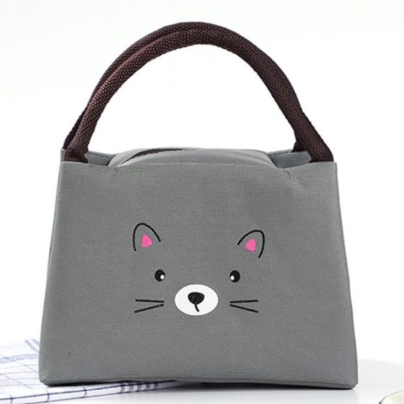 Kids Insulated Lunch Bag Mice - 362 (Grey)