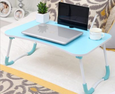 Portable folding bed Laptop table ( Blue )