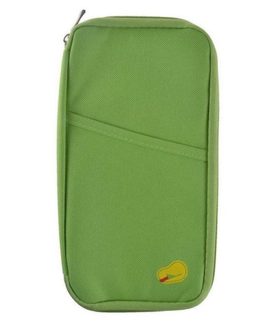 Long Passport Organiser (Light Green)