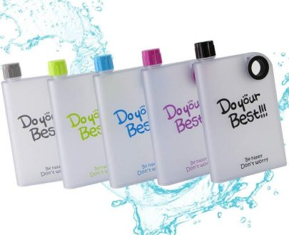 0364 Notebook Style Slim Water Bottle (380 ml, Multicolor) - DeoDap