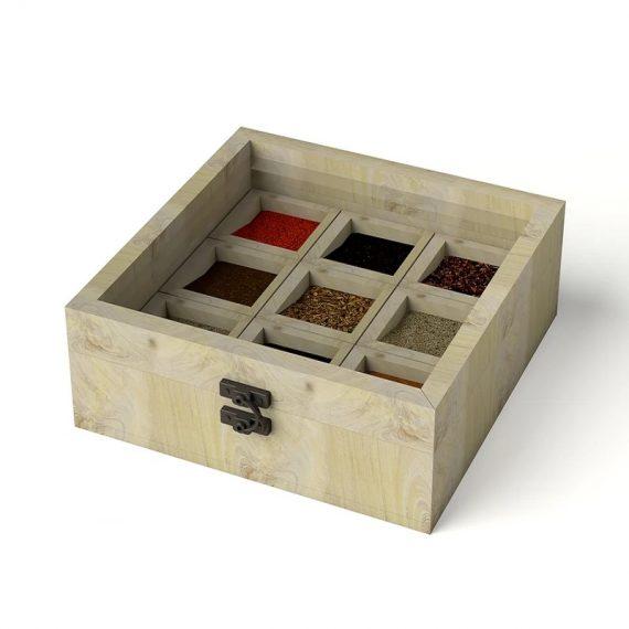 Pinewood 9 Cavity Masala Box