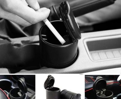 0876 Portable LED Ashtray Cup Holder for Cars/Truck/Auto - DeoDap