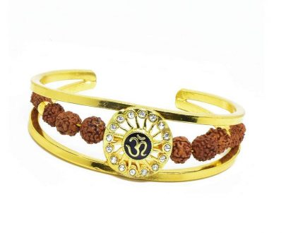 RK03- Unique & Stylish Brass Gold Plated Bracelet for Men / Women (RK03) - DeoDap