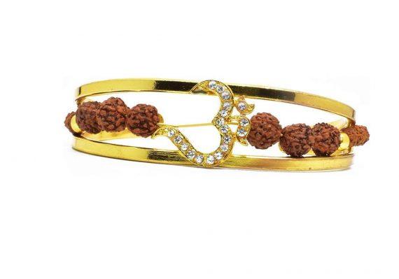 RK04- Unique & Stylish Brass Gold Plated Bracelet for Men / Women (RK04) - DeoDap