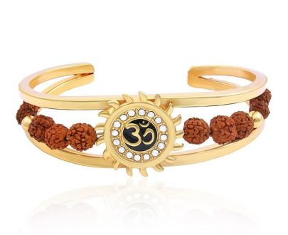 RK01- Unique & Stylish Brass Gold Plated Bracelet for Men / Women (RK01) - DeoDap