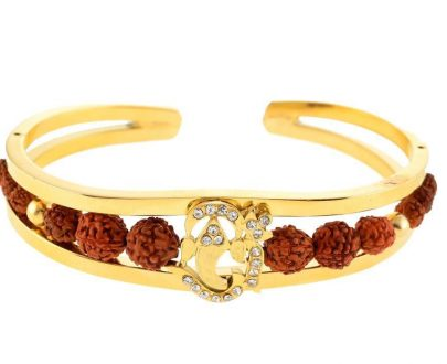 RK02- Unique & Stylish Brass Gold Plated Bracelet for Men / Women (RK02) - DeoDap