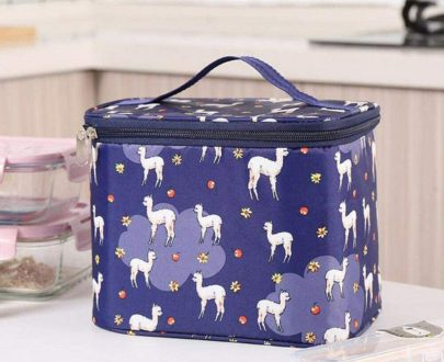Rectangle Insulated Lunch Bag - 360 (Navy Blue)