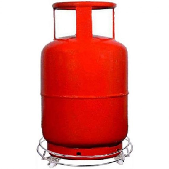 3018 Stainless Steel Gas Cylinder Trolley with Wheels LPG Cylinder Roller Stand Movable Trolley - DeoDap