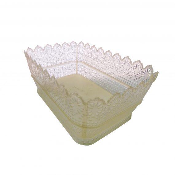 3056 Multipurpose Mini Rectangular Storage Plastic Basket Tray (1 Pcs) - DeoDap