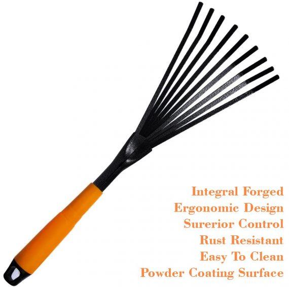 0554 Teeth Rake Garbage Clean up Fork Digger Excavator for Gardens and Planting - DeoDap