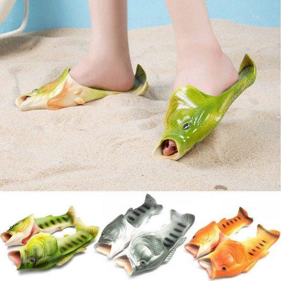 Unisex Fish Sandals (Random Colors - Grey, Orange, Green) (Size - 38/39)