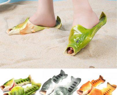 Unisex Fish Sandals (Random Colors - Grey, Orange, Green) (Size - 42/43)