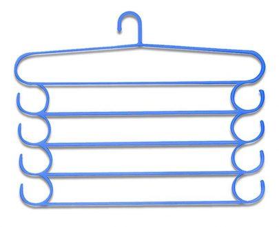 0221 -5 Layer Plastic Hangers (Multicolour, 1 pc) - DeoDap