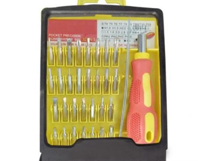 1540 Screwdriver Set 32 in 1 Magnetic Tool Kit With 30 Bits - DeoDap