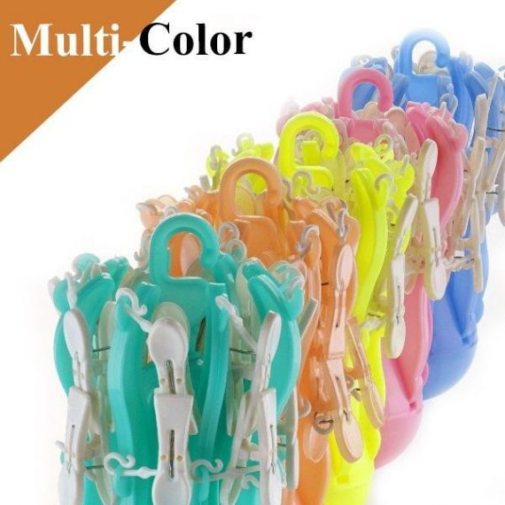 0336 Small Octopus Folding Hanging Dryer Round Folding with 16 Pegs  (Multicolor) - DeoDap