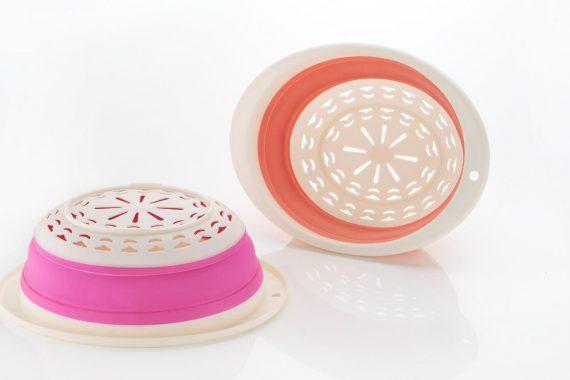 0794 Round Foldable Fruit Vegetables Washing Bowl Drying Basket - DeoDap