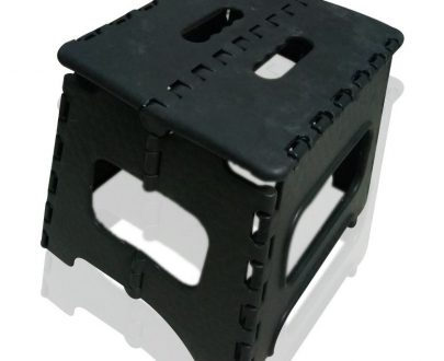 2101 Folding Lightweight Plastic Stool (Black) - DeoDap