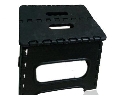 2101 Folding Lightweight Plastic Stool (Black) - DeoDap