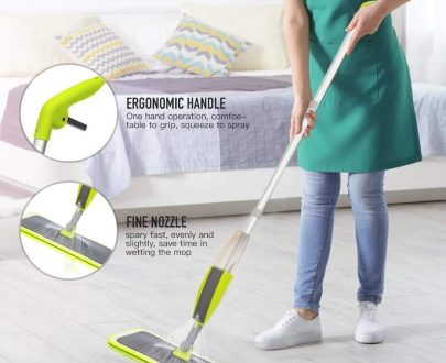 0802 Cleaning 360 Degree Healthy Spray Mop with Removable Washable Cleaning Pad - DeoDap