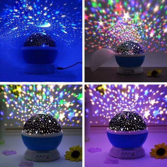 1234 Colour Changing Good Night Star Master Rotating Projection Night Lamp - DeoDap