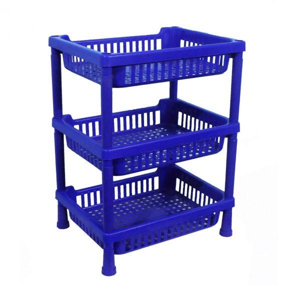0803 Multipurpose Plastic Storage Rack Oraganiser - 3 pcs - DeoDap