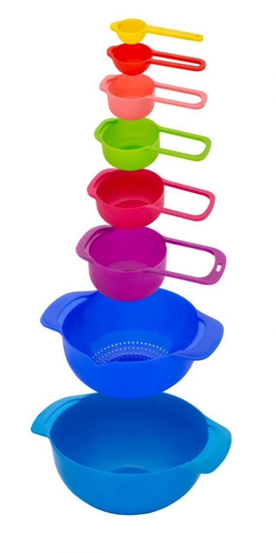0833 8 Piece Nesting Bowls with Measuring Cups Set - DeoDap