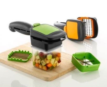 2152 Premium Vegetable Dicer Multi Chopper Set 5 in 1 Cutting Blades - DeoDap