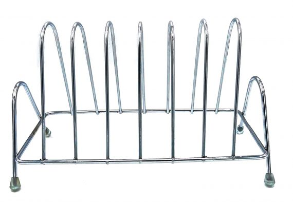 2135 Stainless Steel Square Plate Rack Stand Holder for Kitchen - DeoDap