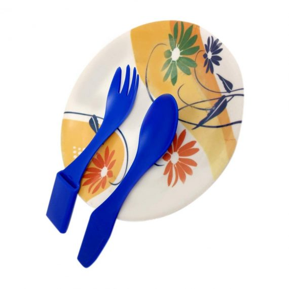 0821 Smart Compact Cutlery Set Travel Cutlery Set 4 in 1 Cutlery Set, Spoon Fork Knife & Tongs - DeoDap
