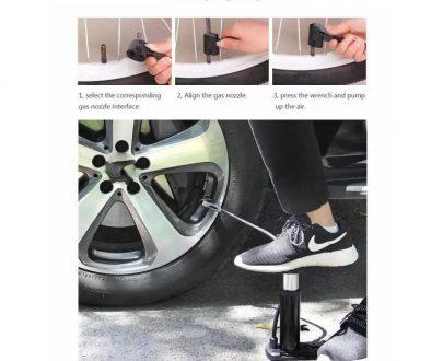 0488 Mini Foot Pump Inflator For  Bike and car - DeoDap