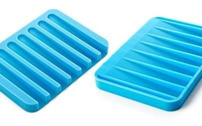 0810 Silicone Soap Holder Soap Dish Stand Saver Tray Case for Shower - DeoDap