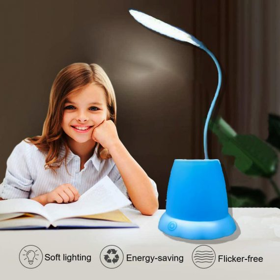 1256 Desk Lamp with Pen Holder Table Lamp with Pencil Stand for Home Office - DeoDap