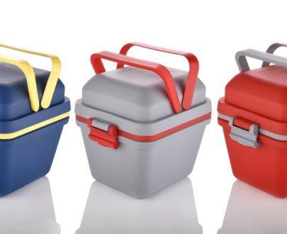 2144 Airtight Lunch Box with Handle & Push Lock - DeoDap
