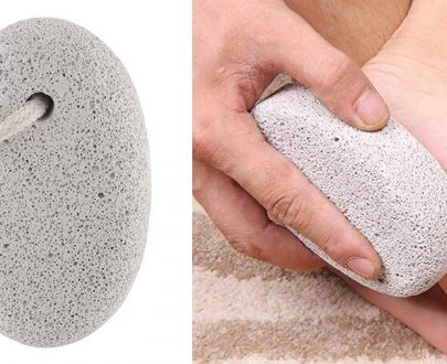 1252 Oval Shape Stone Foot, Heel Scrubber For Unisex Foot Scrubber Stone - DeoDap