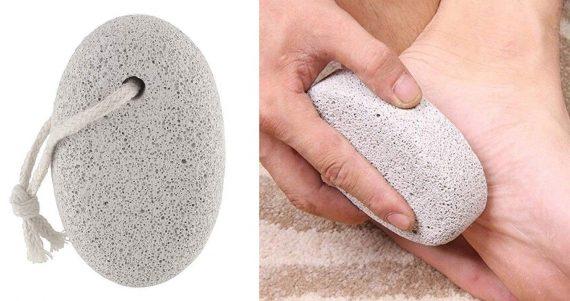 1252 Oval Shape Stone Foot, Heel Scrubber For Unisex Foot Scrubber Stone - DeoDap
