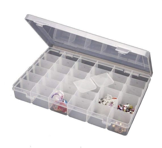 0819 24 Compartments Display Storage Case Box for Rings Earing - DeoDap