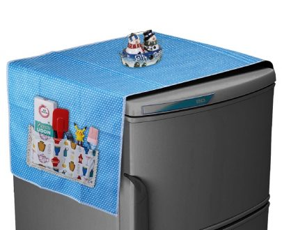Non Woven Fridge Cover (Blue)