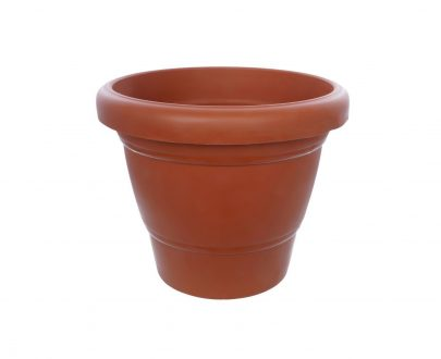 0839 Garden Heavy Plastic Planter Pot/Gamla 6 inch (Brown, Pack of 1, Small) - DeoDap