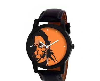 1810 Unique & Premium Analogue Watch Hanuman Print Multicolour Dial Leather Strap (Watch 10) - DeoDap