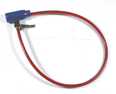0227 Steel Wire 0.6 Diameter Cable Lock with Keys (Bicycle Lock) - DeoDap