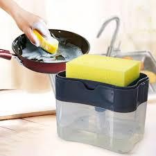 1274 2-in-1 Soap Dispenser on Countertop with Sponge Holder - DeoDap