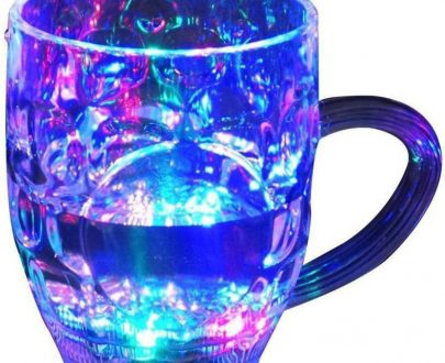 0619 Led Glass Cup (Rainbow Color) - DeoDap