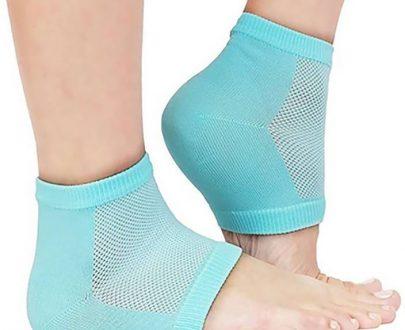 0343 Heel Pain Relief Silicone Gel Heel Socks (Multicolor) - DeoDap