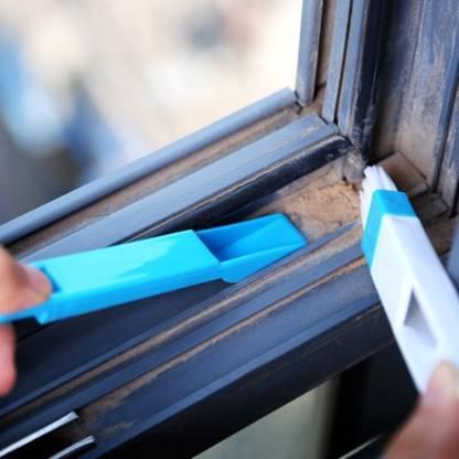 0850 2 in 1 Multi-Function Plastic Window Slot Keyboard Wardrobe Dust Removal Cleaning Brush - DeoDap
