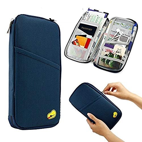 Long Passport Organiser (Navy Blue)