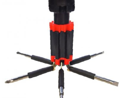 1501 6 in 1 Multi-Function Screwdriver Kit with LED Portable Torch - DeoDap