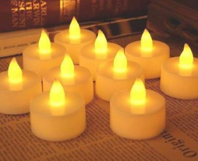 1222  Festival Decorative - LED Tealight Candles (White, 24 Pcs) - DeoDap