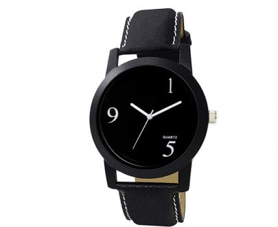 1804 Unique & Premium Analogue Black Dial stylish Leather Strap watch (Watch 4) - DeoDap