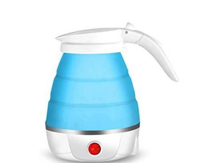 2137 Silicone Foldable Collapsible Electric Water Kettle Camping  Boiler - DeoDap